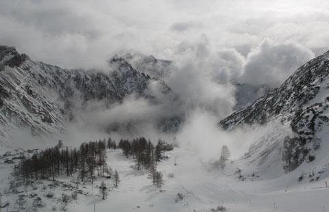 Pogled s Passo Fedaia